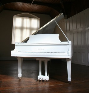 Kawai KG 2D Grand Piano in white