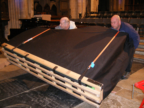 Our professional piano removal process