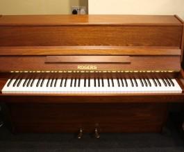 Rogers 108 Upright Piano Mahogany