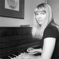A picture of Jenny at the piano