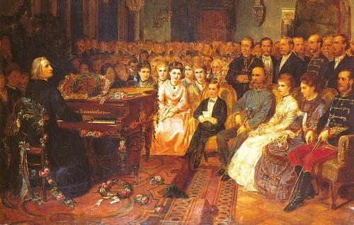 Liszt playing a Bösendorfer (image sourced from Bösendorfer.com)