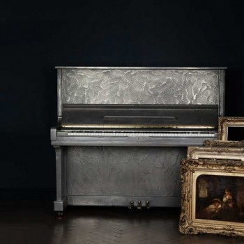 88 Keys - Sculpted Silver Piano