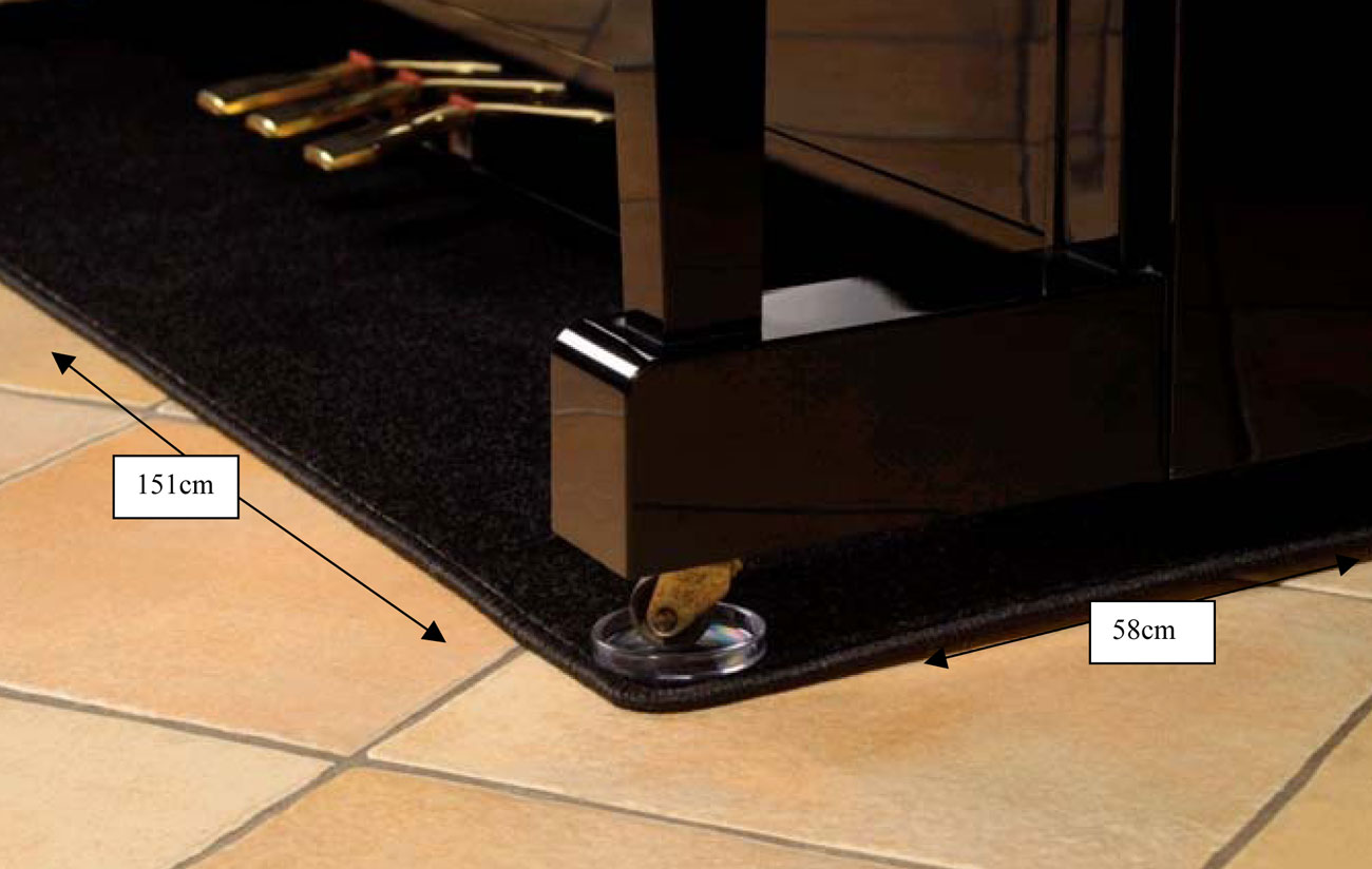 Kawai Upright Piano >> Piano Carpet (Standard Size for Upright Pianos)