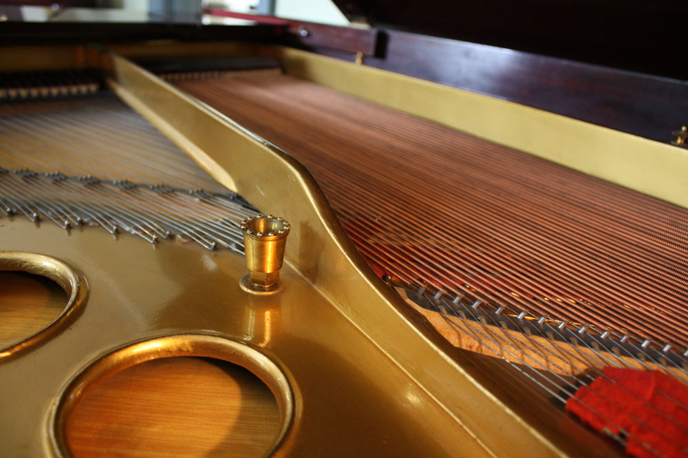 Inside a Steinway Grand Piano with the lid open