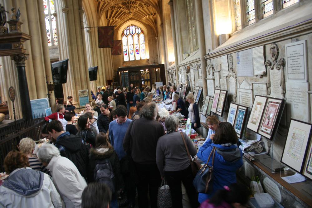 Bath Abbey heaving with customers!