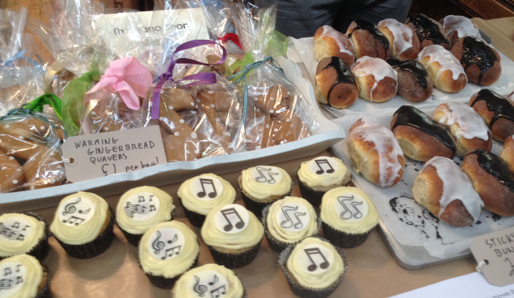Piano Shop Bath cakes for sale at The Great Bath Bake Sale