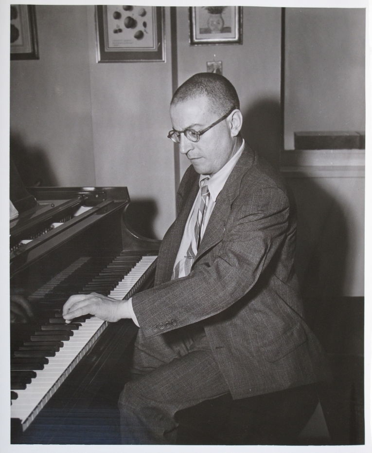 Paul Wittgenstein at the piano.