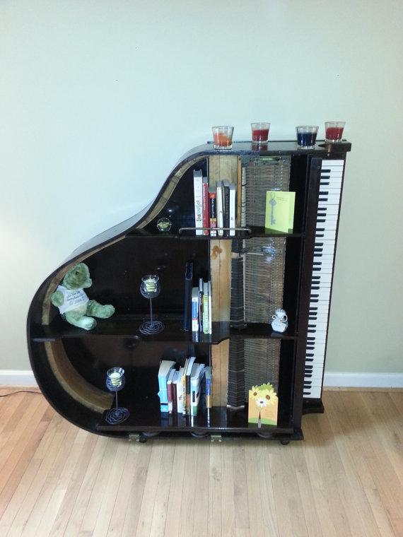 The Grand Piano Bookcase