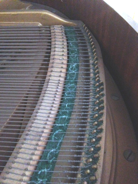 Restoration of Moth Damage to a Grand Piano | The Piano Shop Bath