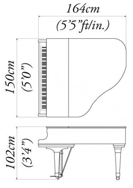 Grand piano analysis kawai ge 30 grand piano the piano for What size is a grand piano