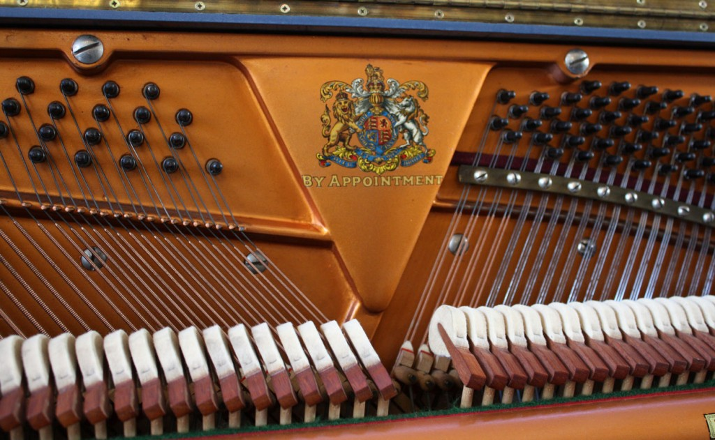 Broadwood piano painted in Farrow & Ball