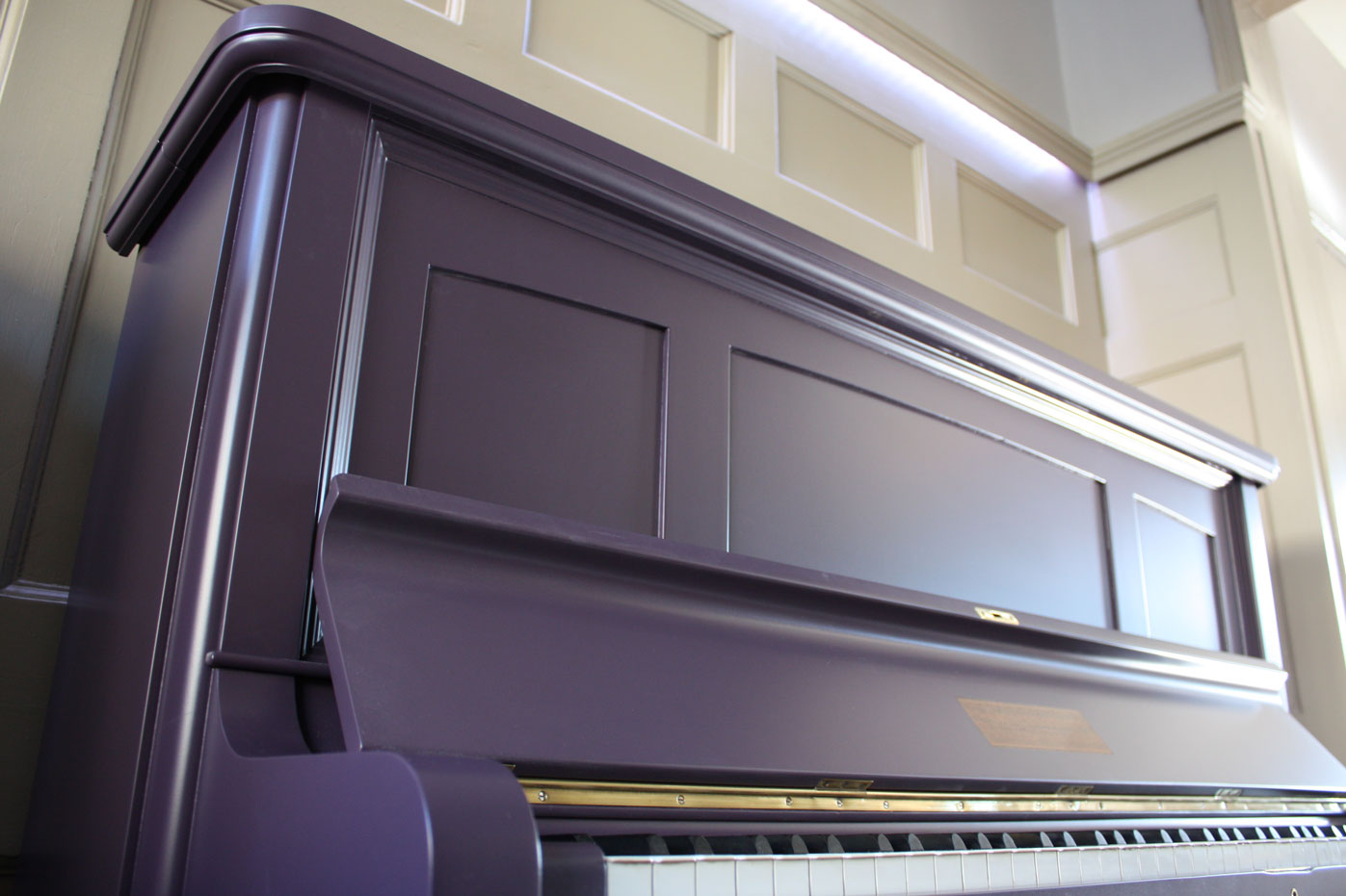 farrow ball painted challen son upright piano. Black Bedroom Furniture Sets. Home Design Ideas