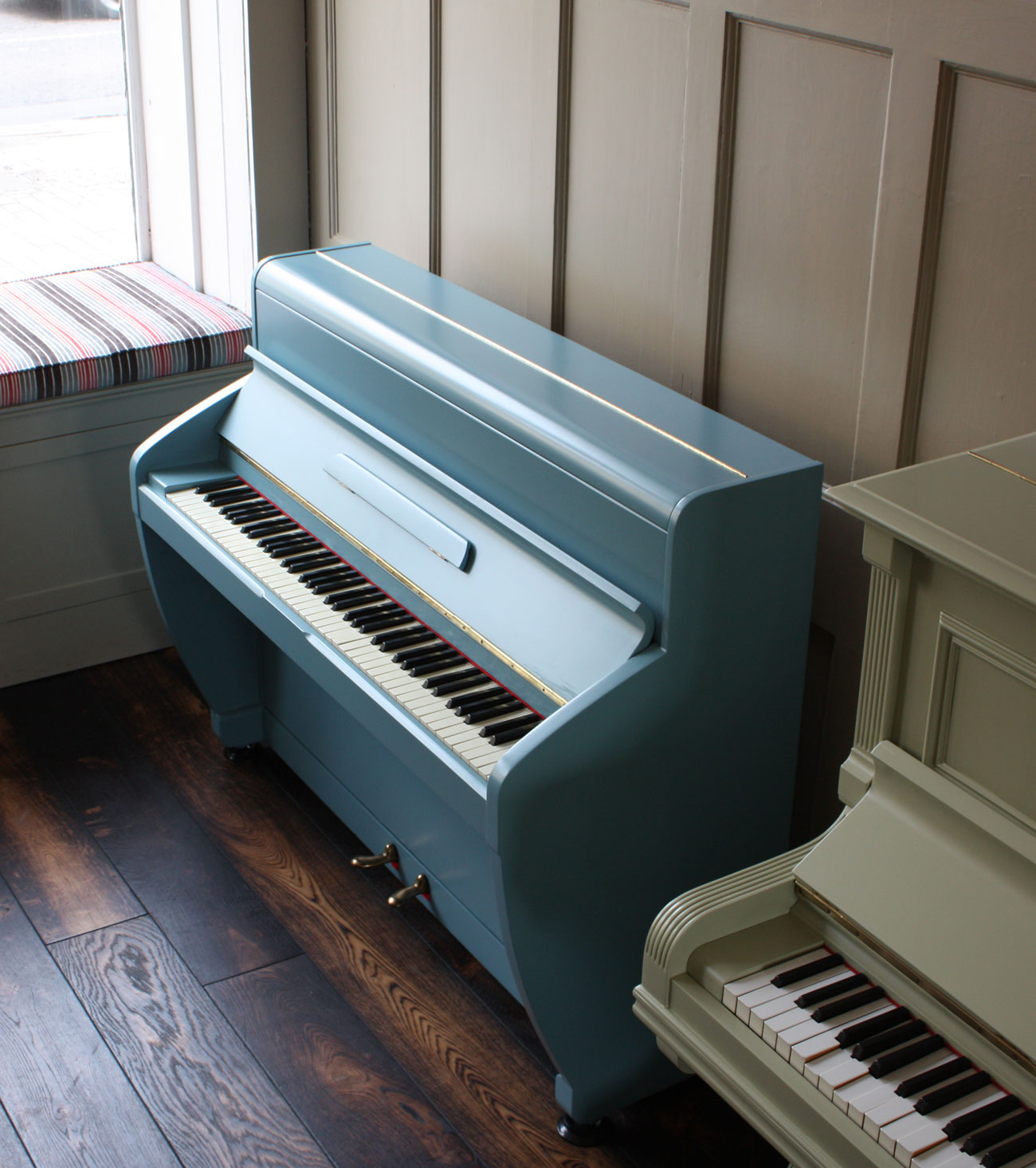 Challen painted upright piano