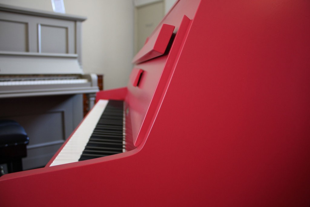 Kemble Upright Piano finished in Farrow & Ball 'Incarnadine'