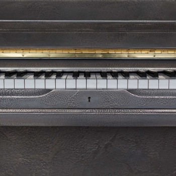 88 Keys - Sculpted Silver Piano
