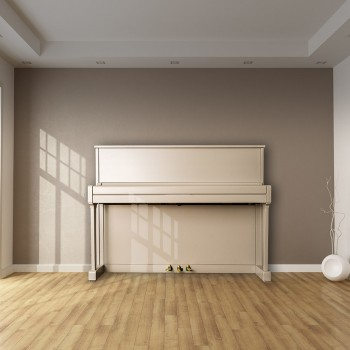 Painted Piano in Room