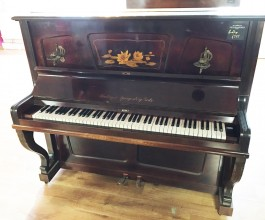 Hölling & Spangenberg Rosewood Upright Piano