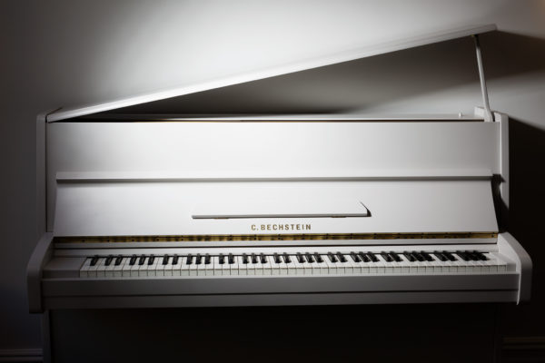White Painted Pianos