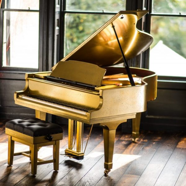 Antique Gold Piano