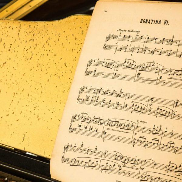Antique Gold Piano
