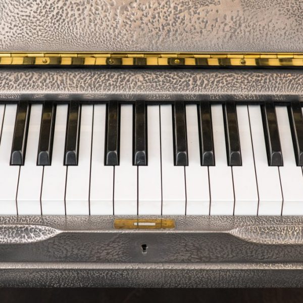 Sculpted Silver Piano