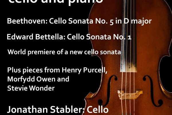 Cello Sonatas Concert, Saturday 18 November 2017
