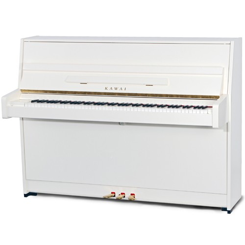 Kawai K-15E Upright Piano in White Finish