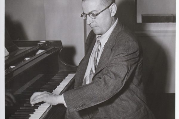 Paul Wittgenstein at the piano.