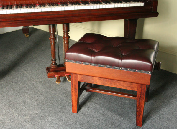 Solo Concert Piano Stool in Burgundy
