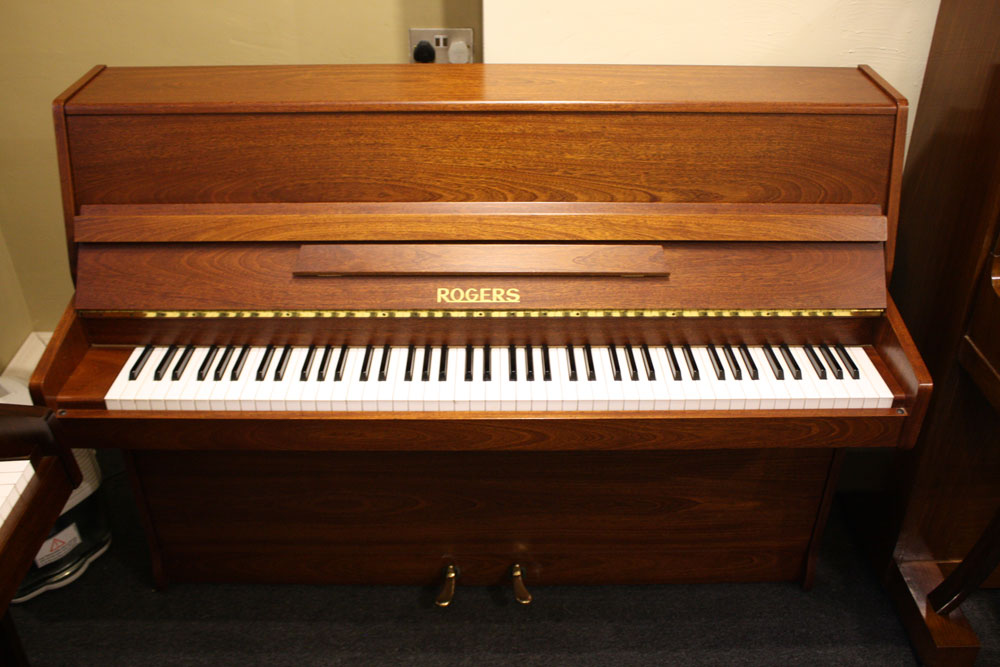 Rogers 108 Upright Piano Mahogany