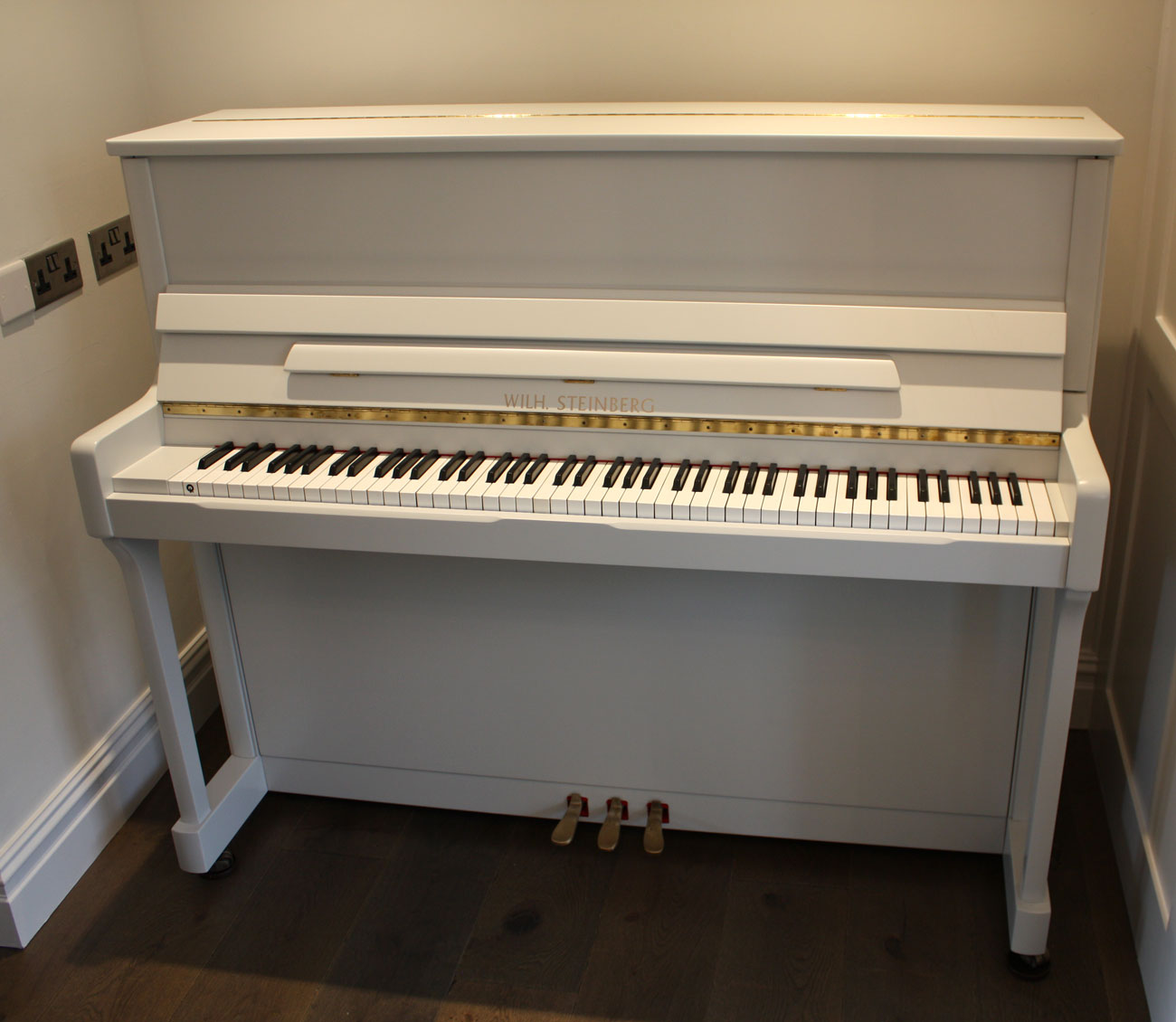 Wilh. Steinberg Painted Upright Piano