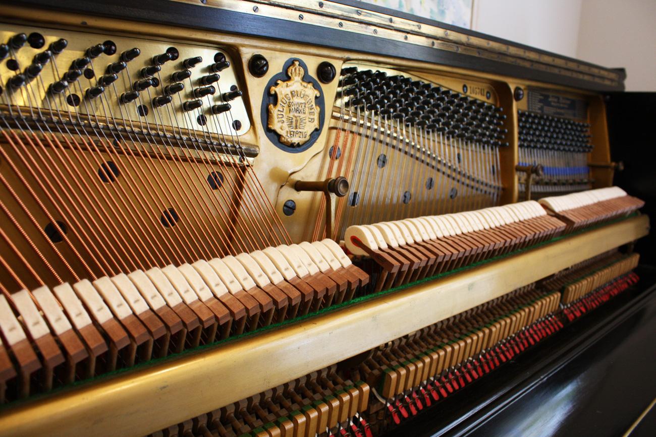 Bluthner Black Upright Piano