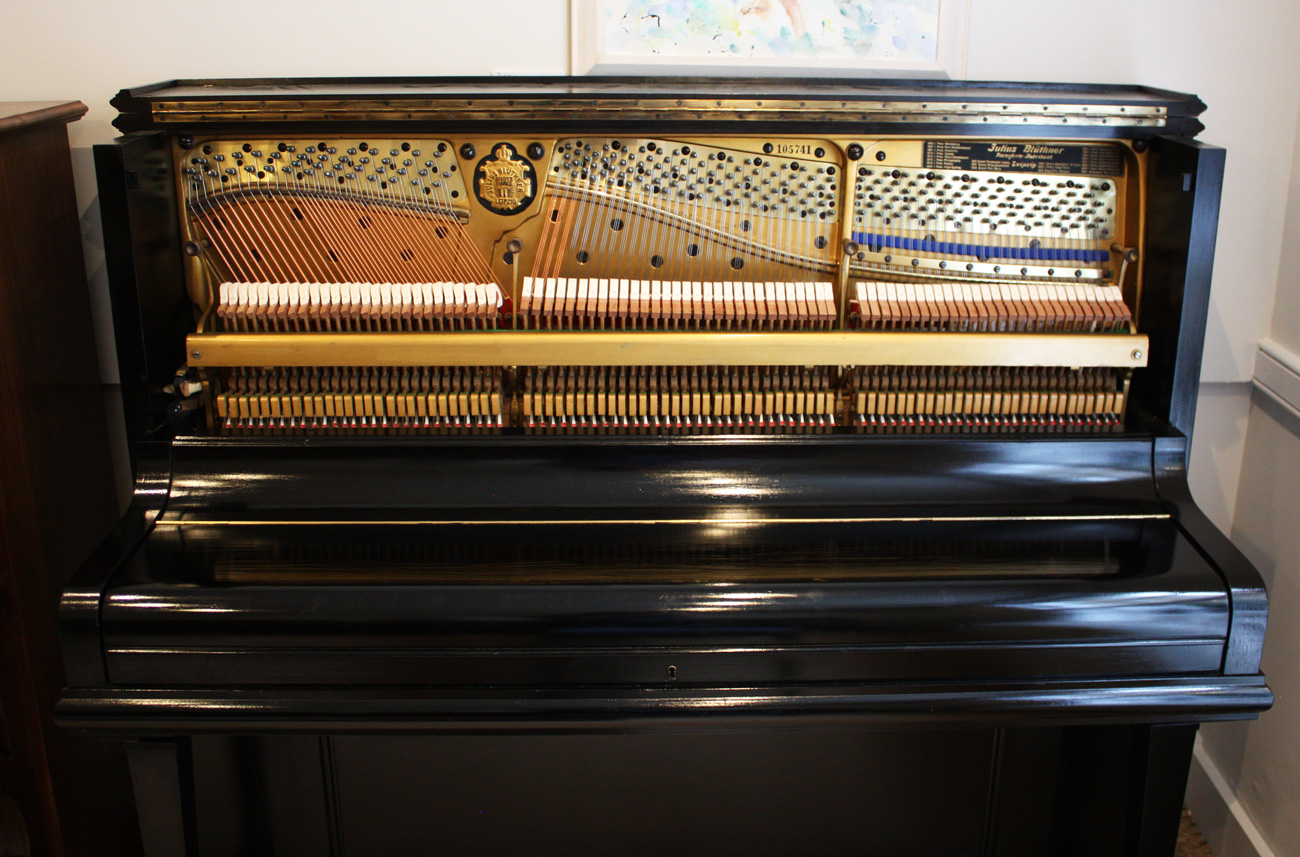 Bluthner Black Upright Piano