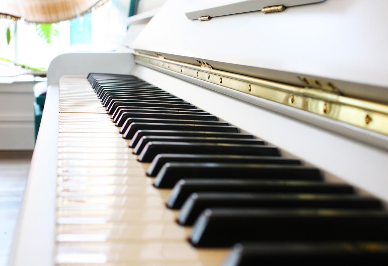 John Broadwood painted piano