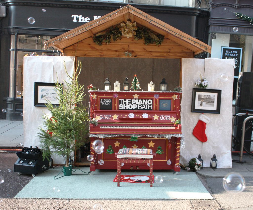 Bath Christmas Market piano