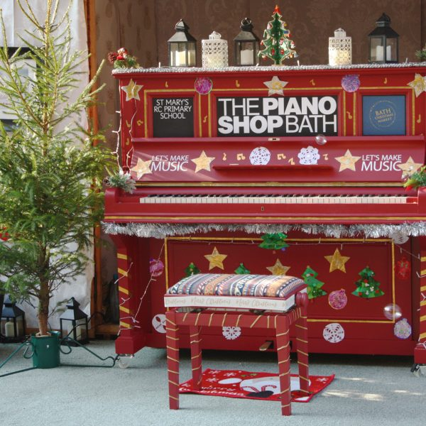 Bath Christmas Market piano