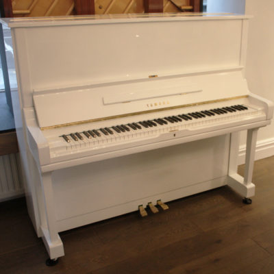 Yamaha U3 1981 White Upright Piano
