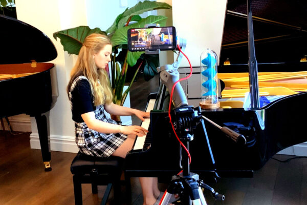 Emma Jackson playing a beautifully restored Bluthner Model 4 Grand Piano
